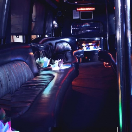 inside black bus 2