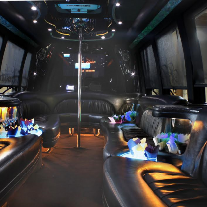 inside black bus